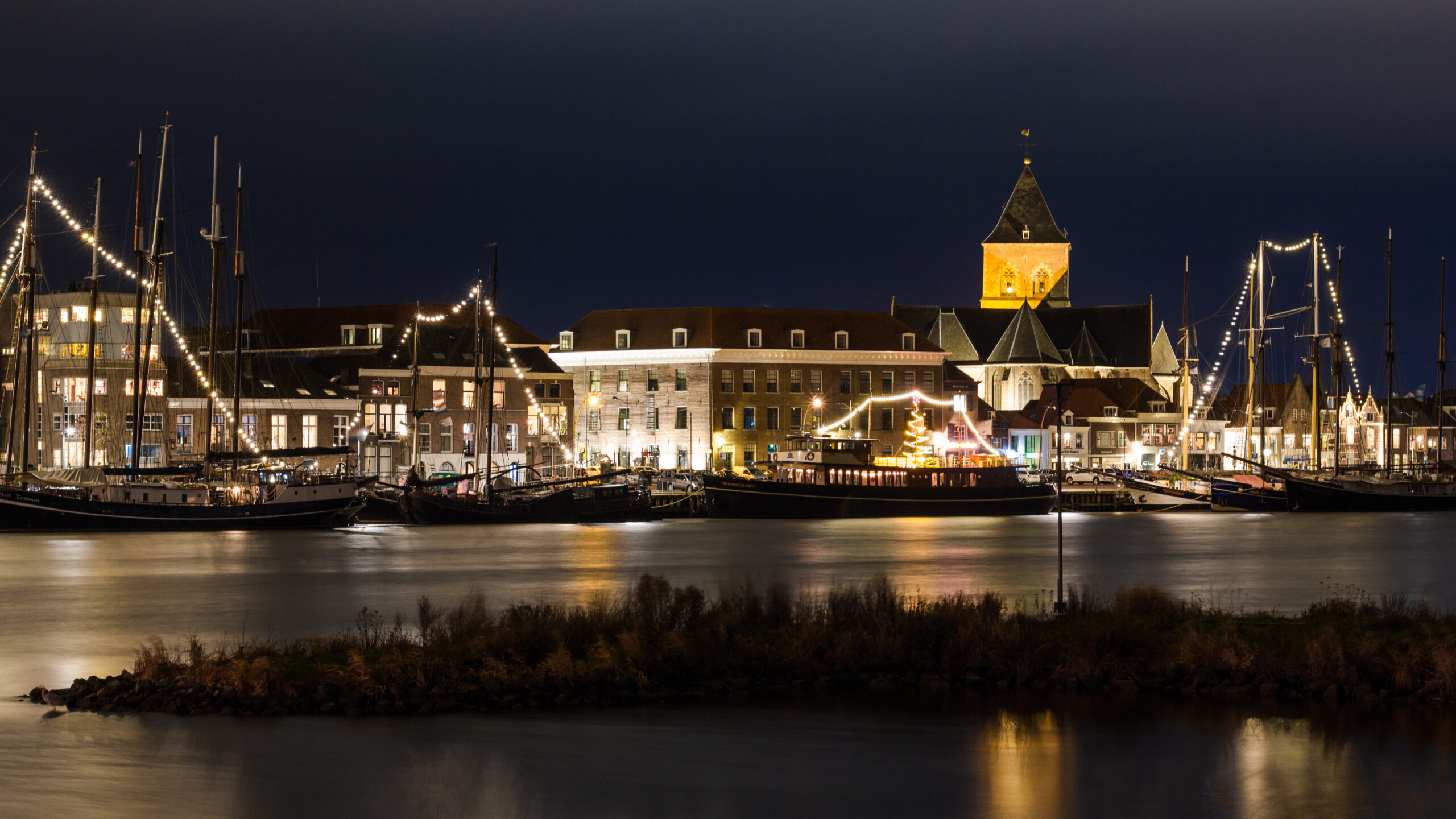 Skyline,Of,The,City,Kampen,In,The,Netherlands
